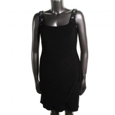 Cocktail Dress NWT Alex Evenings SALE  Black Embellished Top