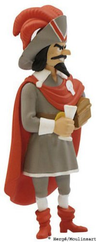 RED RACKHAM PLASTIC FIGURINE TINTIN & SECRET OF THE UNICORN