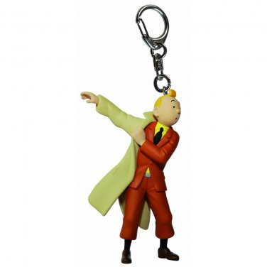 TINTIN TRENCH COAT PVC KEY RING  NEW COLLECTION