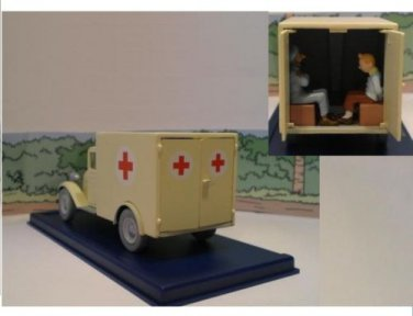 TINTIN AMBULANCE CIGARS OF THE PHARAOH EDITIONS ATLAS RARE