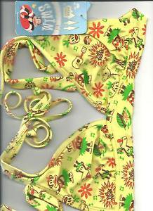 Paul Frank Hulius Julius bathing suit Bikini set X-Small