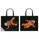 Tintin & Haddock Astronaut space tote bag Semi Waterproof - 1 bag New