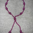 Burgundy Decenario Rosary Bracelet