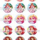 "Disney Princess Ariel Bottle Cap 15 1"" Images Digital JPEG File"