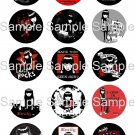 "Emily The Strange Sheet (Set No.55) Bottle Cap 15 1"" Images Digital JPEG File *U PRINT*"