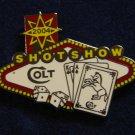Colt Shot Show 2004 Las Vegas Hat Lapel Tie Tack Tac Badge Gun Pin