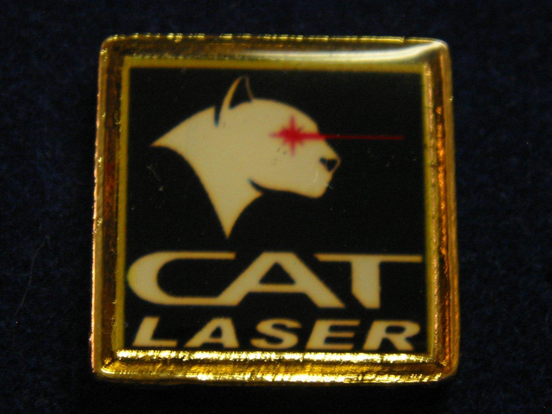 CAT Laser Hat Lapel Tie Tack Tac Badge Gun Pin