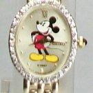 Disney Diamond 14kt Gold Ladies Seiko Mickey Mouse Watch! New Wow!
