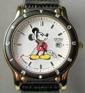New! Disney Sports Seiko Ladies Mickey Mouse Watch! HTF