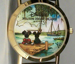 Disney Minnie Mouse and Mickey Mouse Watch! From Island Resort! New! HTF!