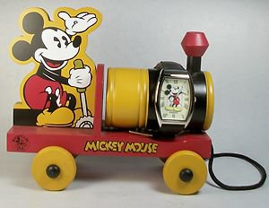 New Disney Limited Edition Fossil Mickey Mouse Watch With train!! COA! HTF! Neat