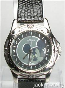 New Disney Silver Mickey Mouse Watch! Hard To Find!