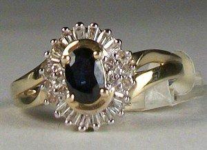 New Stunning 1/2 carat Sapphire Ring with 1/3 carat diamonds ring!