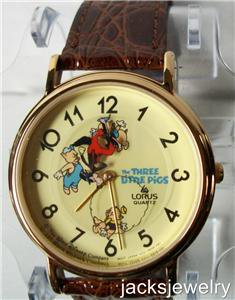 Disney New Lorus Animated Three Little Pigs Watch!  Wolf is Secondhand! Wow!