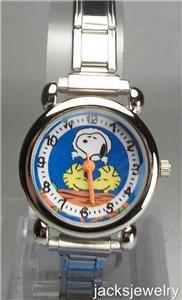 New Peanuts Snoopy Italian Charm Watch! Hard To Find!