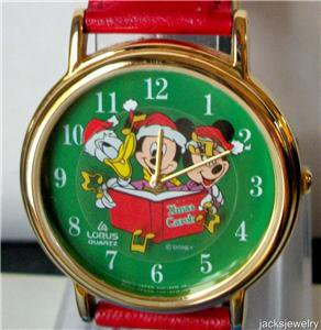 Disney Stunning Mickey Mouse Christmas Watch! New!