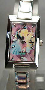 New Disney Rare Three Princess Disney Italian Charm Watch! HTF Free Gift & Watch