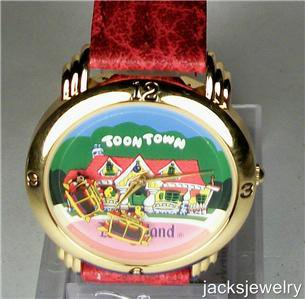 New Disney Rare Animated Train Toon Town Mickey Mouse Watch! Beautiful!