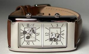 Disney Dual Time Mickey Mouse Watch! New! HTF