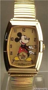 New Disney Rare Anniversary Seiko Mens Mickey Mouse Watch! HTF!