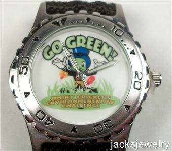 New Disney Rare Go Green Cast Member Only Jiminy Cricket Watch! HTF!