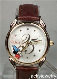New Disney 25th Anniversary Sorcerer Mickey Mouse Watch! Hard To Find!