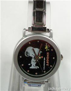 New Woodstock and Snoopy Italian Charm Watch! Hard To Find!