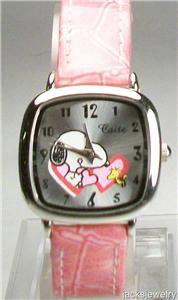 In Time For Valentines! Peanuts Snoopy Watch With Hearts and Woodstock! Cute New