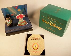 New Disney Limited Edition Little Mermaid Watch! HTF! Free Gift & Free Watch!