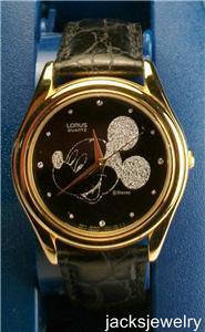 Disney New Lorus Silhouette Mens Mickey Mouse Watch! Gorgeous! Rare!