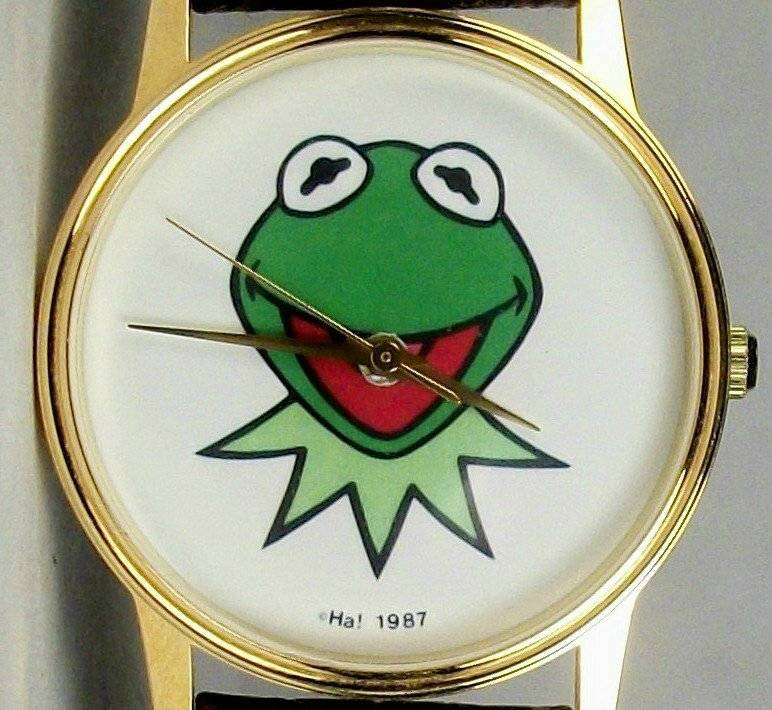Jim Hensons Kermit the Frog watch! Mens! HTF! Brand-New!