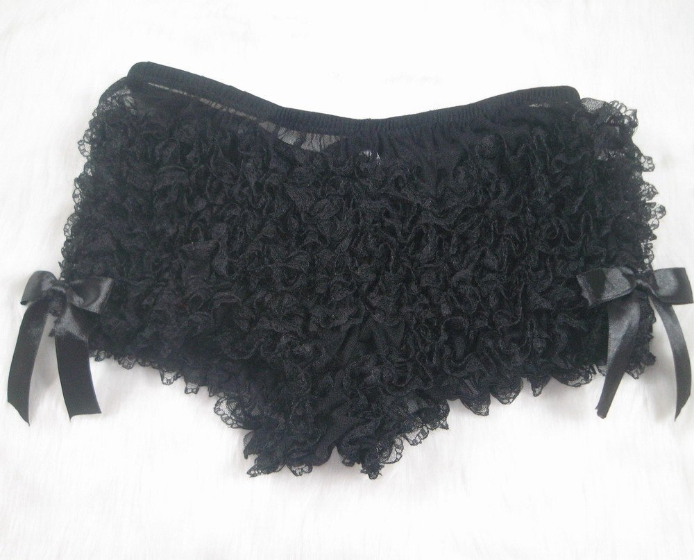 Ruffle Boyshort Sissy Panty black XL