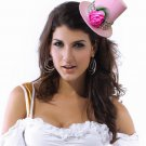 Rose and Beads Mini Top Hat