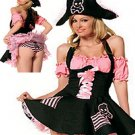 Pirate Adult Hallween Costume black/pink S