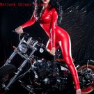 Wetlook Lame Catsuit red M/L