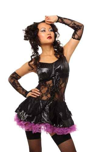 4-pc Dark Fairy Halloween Costume black/purple One Size