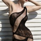 Lace and Strings Chemise black One Size