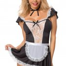 French Maid Costume black/white One Size