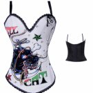 Hell Cat Bustier white/multi L
