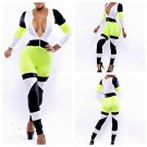 Speedway Jumpsuit Catsuit neon green/black/white