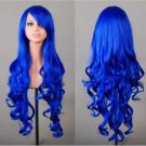 Cosplay Anime Long Wig saphire blue