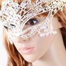Masquerade Venice Lace Mask white One Size