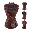 Steampunk Skull Patterned Corset & Shrug L