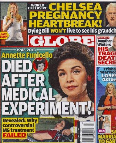 Annette Funicello, Jonathan Winters, Trisha Yearwood - April 29, 2013 Globe Magazine