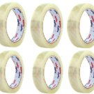 "6x 3"" Core 3/4"" x 1800"" 50 Yards TRANSPARENT CLEAR STATIONARY TAPE Office School"