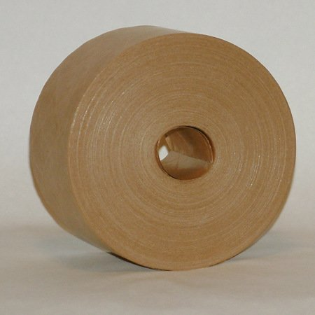 "3"" x 450' ft Brown Kraft Paper Water activated Packaging Tape 1-5/8"" Core"