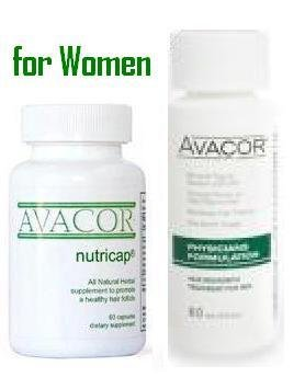 Free Ship Worldwide Avacor Women Minoxidil & Nutricap Vitamin 1 Month hair loss