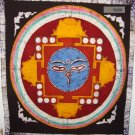 "38/45"" Rare High Quality Handmade Buddha Eyes Mandala Batik Wall hanging"