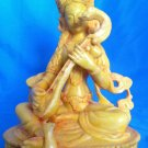 "8 "" Handmade Fishbone Powerful Goddess Statue of Knowledge - Saraswati on lotus"