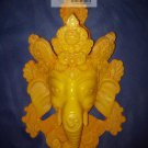 "8 "" Handmade Fishbone Ganesh Mask Wall Hanging from Nepal"